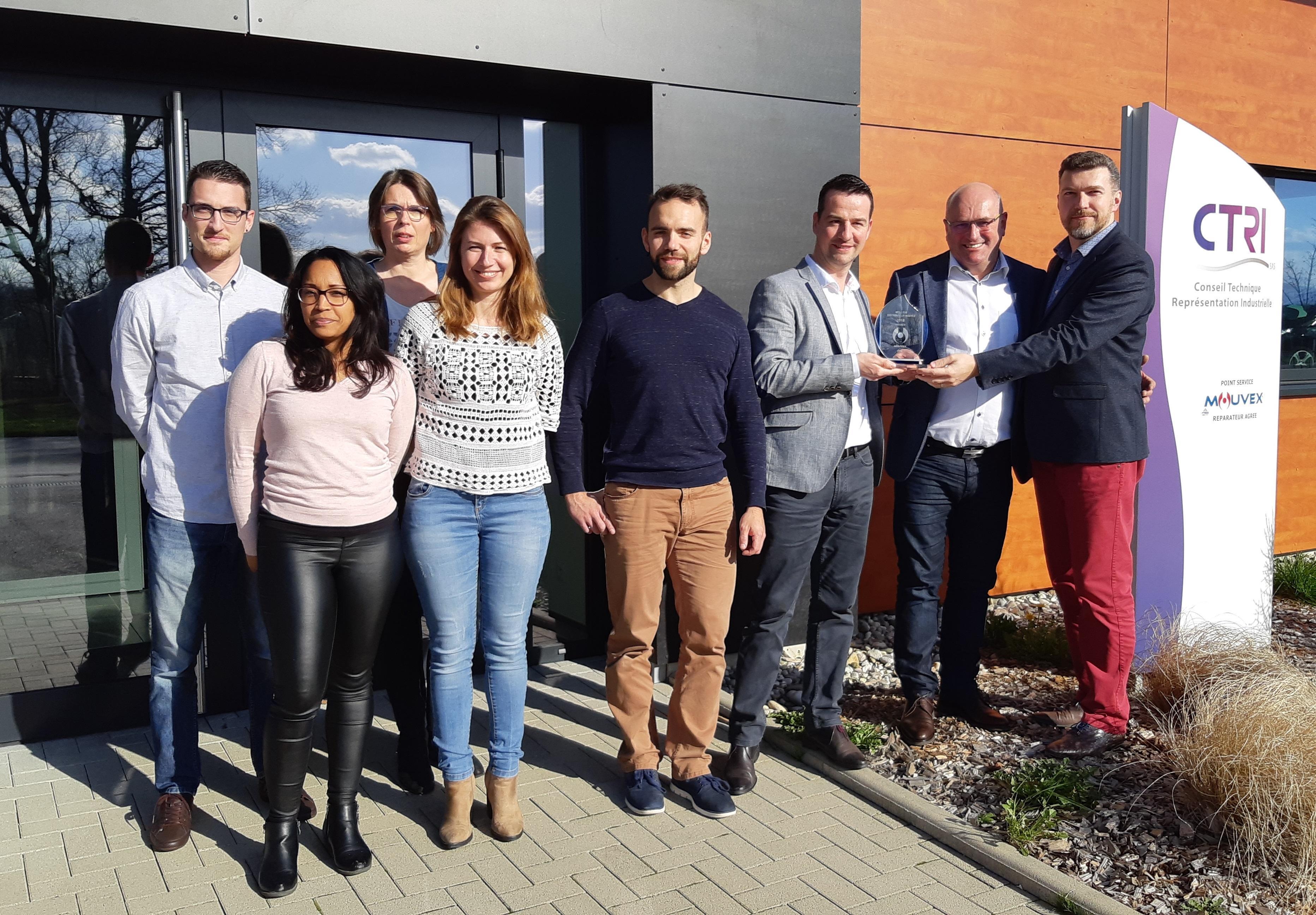 MOUVEX a élu CTRI meilleur distributeur de France 2018 !